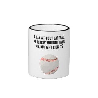 Un día sin béisbol taza a dos colores
