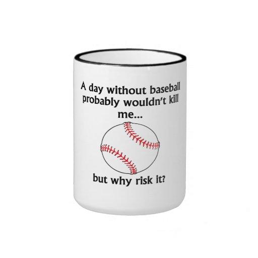 Un día sin béisbol tazas de café