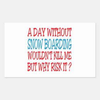 Un día sin el embarque de la nieve no mataría me rectangular altavoz