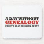Un día sin genealogía tapete de ratón
