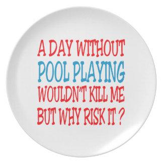 Un día sin jugar de la piscina no mataría me sino plato para fiesta