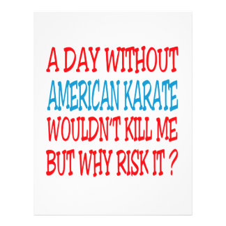 Un día sin karate americano plantilla de membrete