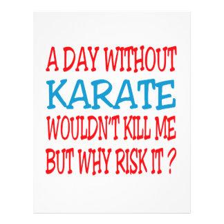 Un día sin karate plantilla de membrete