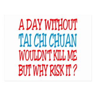 Un día sin la ji Chuan. del Tai Tarjeta Postal