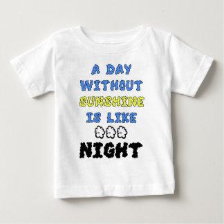 Un día sin sol es como… noche camisas
