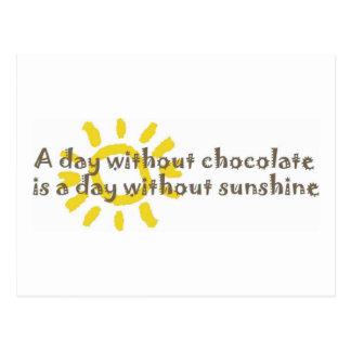 Un día sin sol es un día sin el chocolate postal