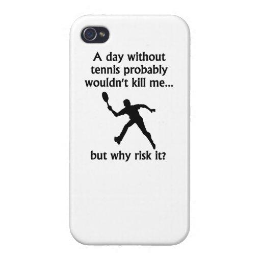 Un día sin tenis iPhone 4 fundas