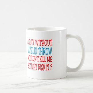 Un día sin tiro de jabalina no me mataría taza de café