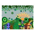 Un día soleado tarjeta postal