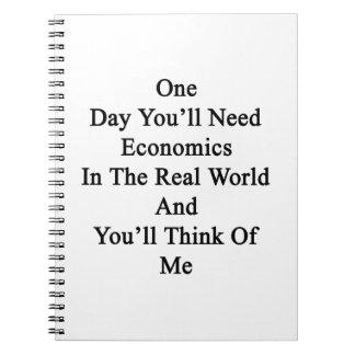 Un día usted necesitará la economía en el mundo cuaderno