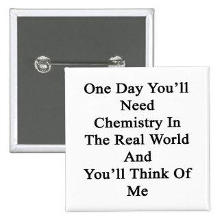 Un día usted necesitará química en el mundo real pins