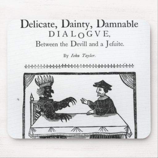 Un diálogo condenable delicado delicado alfombrilla de raton