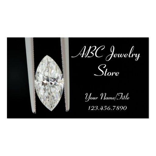 Un diamante del quilate para el propietario de neg tarjeta de negocio