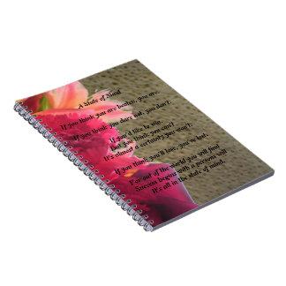 Un diario del cuaderno del poema del estado de áni