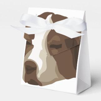 Un dibujo animado lindo de la cara del perrito cajas para regalos de fiestas