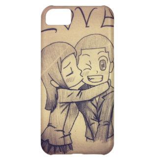 un dibujo del animado, amor funda para iPhone 5C