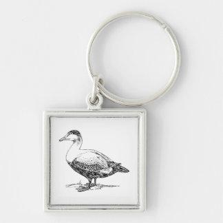 Un dibujo más viejo del pájaro del pato llavero personalizado