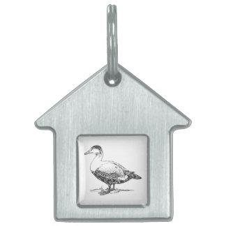 Un dibujo más viejo del pájaro del pato placa de mascota
