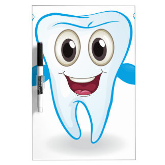 Un diente fuerte pizarras blancas de calidad