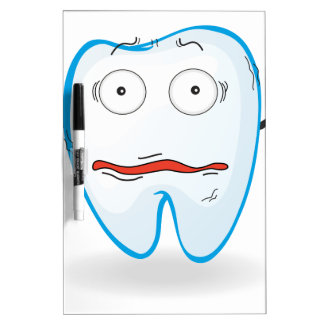 Un diente pizarra blanca