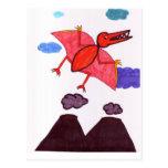 Un dinosaurio tarjeta postal