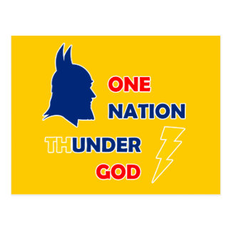 Un dios del trueno de la nación postales