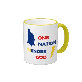 Un dios del trueno de la nación tazas de café