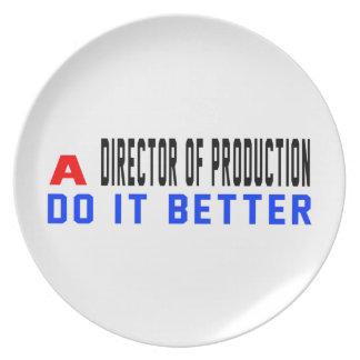Un director de la producción mejora platos para fiestas