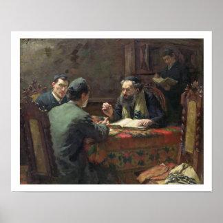 Un discusión teológico 1888 impresiones