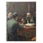 Un discusión teológico, 1888 libros de apuntes con espiral