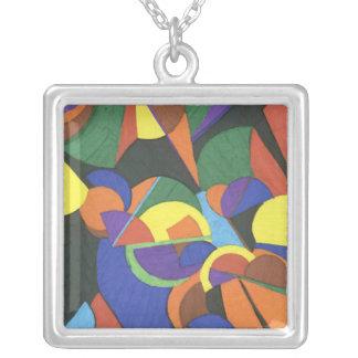 Un diseño abstracto colorido grimpola personalizada
