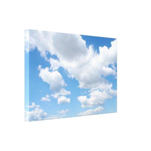 Un diseño del cielo nublado lona envuelta para galerías