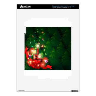 Un diseño del navidad con las velas encendidas iPad 3 skin
