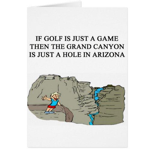 un diseño divertido del golf tarjeta de felicitación