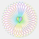 Un diseño espiral pegatina redonda