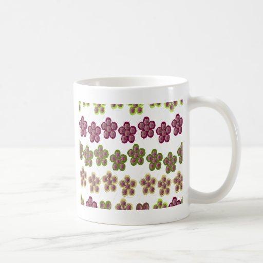 un DISEÑO FLORAL HERMOSO Tazas De Café