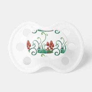 Un diseño inconsútil con los gusanos en un jardín chupetes para bebés