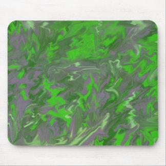 Un diseño torcido verde - P.M. Alfombrillas De Raton
