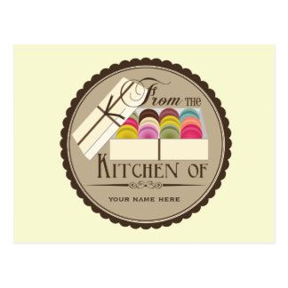 Un docena postales de la receta de Macarons del