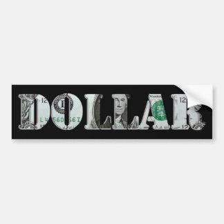 UN dólar Pegatina Para Auto