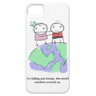 Un doodle tierra-cariñoso lindo por Monsterize Funda Para iPhone 5 Barely There