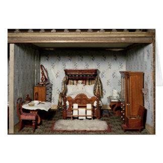 """Un dormitorio en """"Pleasure de señora Bryant"""", c.18 Tarjeta De Felicitación"""