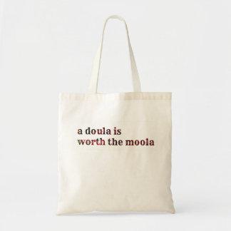 ¡Un doula vale el moola! Bolsa Tela Barata