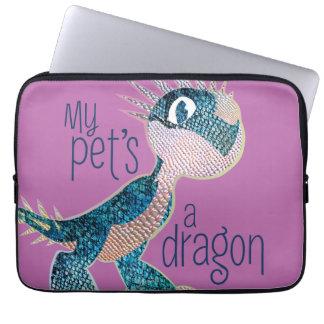 Un dragón de mi mascota funda computadora