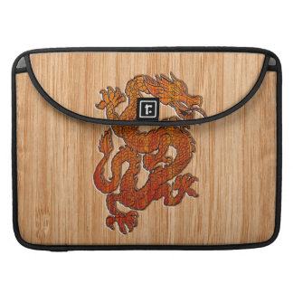 Un dragón en bambú funda para macbooks