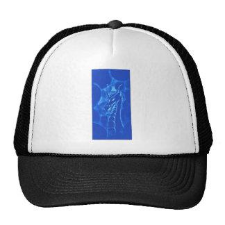 Un dragón en el humo (azul) gorras de camionero