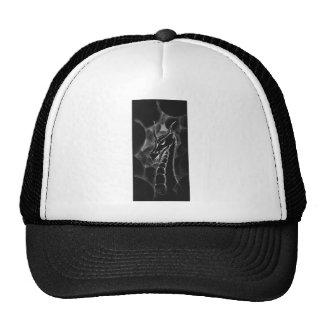 Un dragón en el humo (negro) gorros bordados