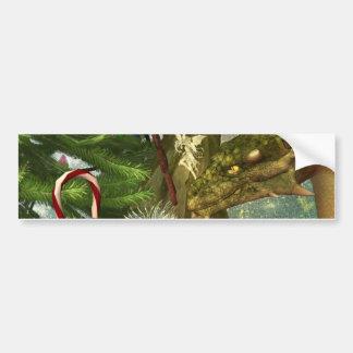 Un dragón y navidad de las hadas pegatina para auto