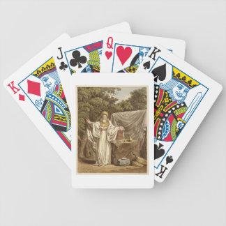 Un druida del arco en su hábito judicial, grabado  baraja de cartas bicycle