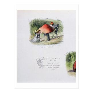 Un duende en busca de una hada, ejemplo de tarjetas postales